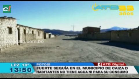 Municipio de Caiza en Potosí sufre fuerte sequía