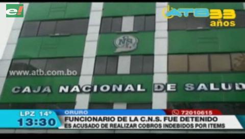 Detienen a funcionario de la CNS de Oruro por estafa