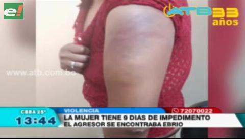 Mujer fue agredida por su pareja