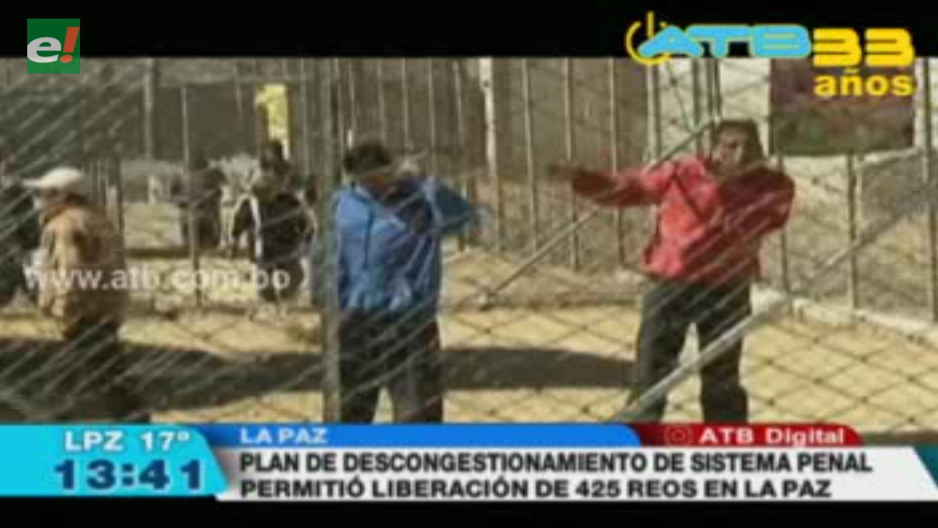 Plan de descongestionamiento del sistema penal liberó a 425 reos en La Paz