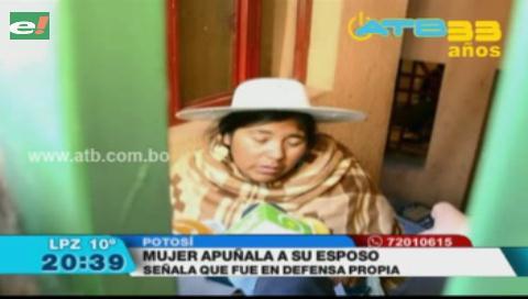 Una mujer apuñaló a su esposo en defensa propia en Potosí