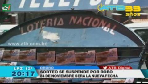 Robaron 1.300 billetes de lotería en Oruro