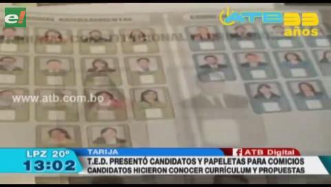 TED de Tarija presentó papeleta de sufragio para las elecciones judiciales