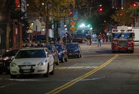 Policías en el lugar del suceso