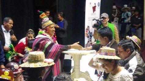 El presidente Evo Morales en Potosí durante la entrega de recursos Bolivia cambia Evo cumple. Foto: Ministerio de Comunicación