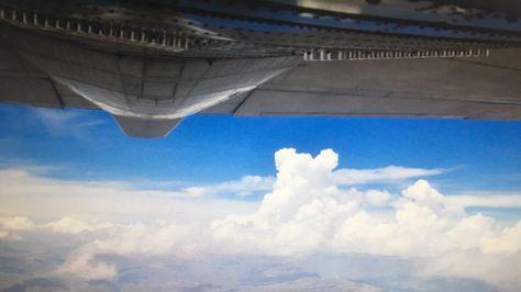 Avión de FAB equipado para provocar lluvias.