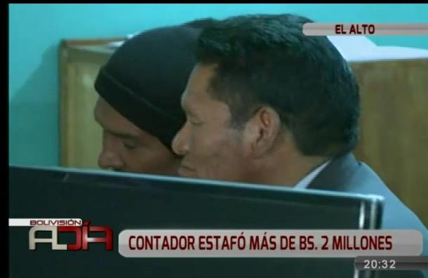 Contador estafó con más de dos millones de bolivianos