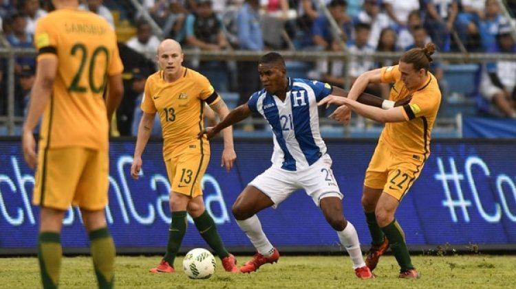 Hondura igualó ante Australia y comprometió su acceso al Mundial de Rusia 2018 (AFP)