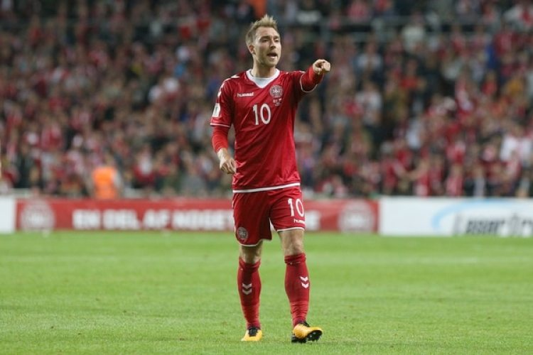 Christian Eriksen, jugador estrella de Dinamarca