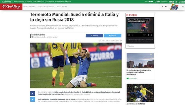 """El Gráfico, Chile, habló de """"Terremoto Mundial"""""""