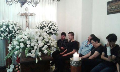 El velorio de Mary Linera Pareja, madre del vicepresidente Álvaro García. Foto: Fernando Cartagena