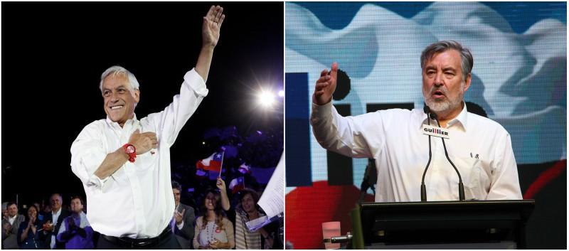 Elecciones 2017: Sebastián Piñera y Alejandro Guillier se encaminan a la segunda vuelta