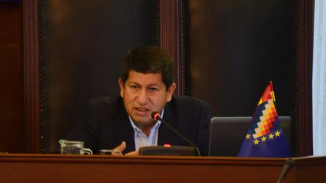 El ministro de Hidrocarburos, Luis Alberto Sánchez.