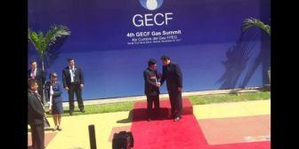 Maduro llegó, sobre la hora, a la Cumbre de Jefes de Estado del FPEG en Bolivia