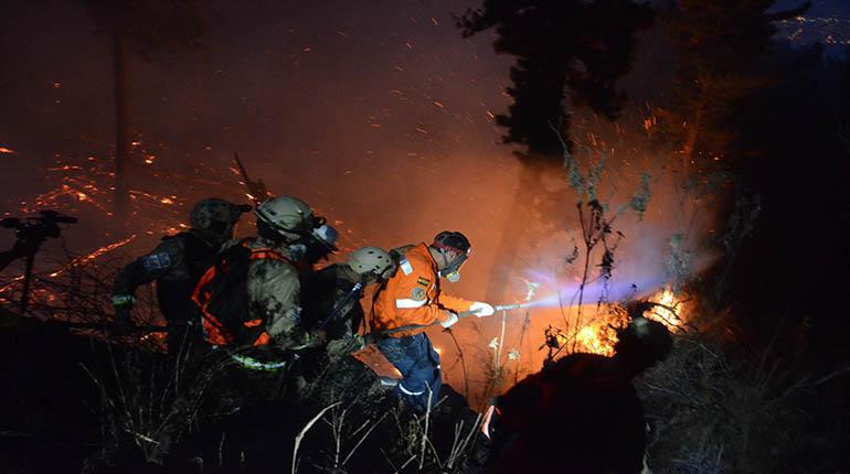Incendio en Parque Tunari fue provocado