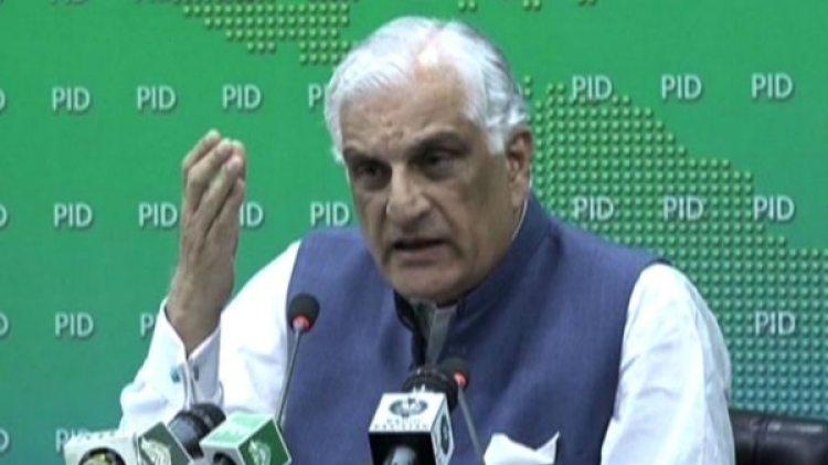 El ministro de Justicia de Pakistán Zahid Hamid