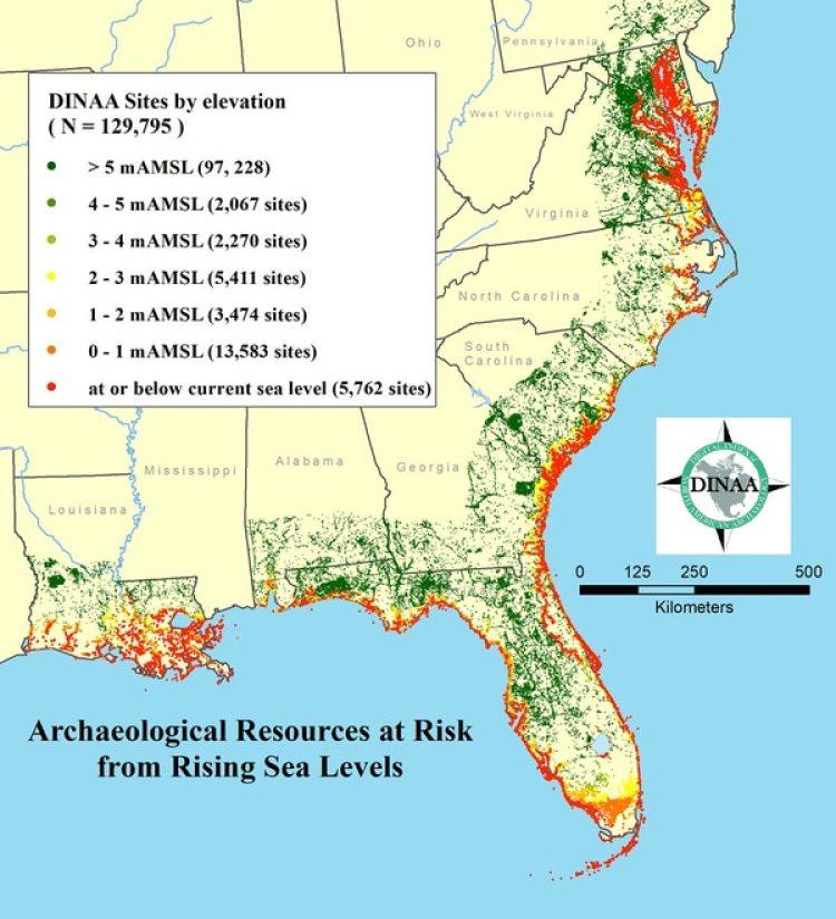 El estado con más sitios en peligro de sumersión por el cambio climático es la Florida. (DINAA)