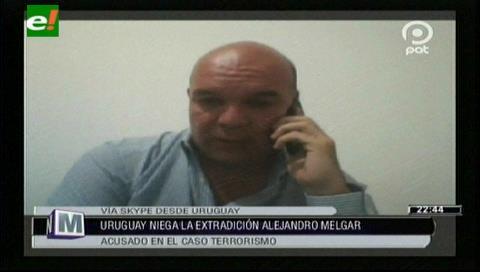 """Alejandro Melgar: """"La ley en Uruguay se respeta, está cerrada toda posibilidad de mi extradición"""""""