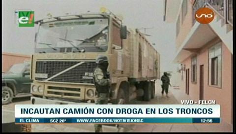 Incautan camión con precursores químicos