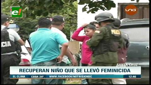 Policía rescata a menor que fue llevado por feminicida