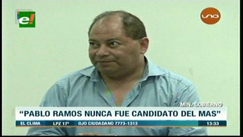 """Ministro Romero: """"Pablo Ramos nunca fue candidato del MAS"""""""