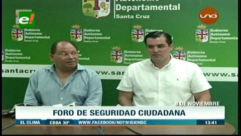 Gobierno nacional se suma al 1er Foro de Seguridad Ciudadana