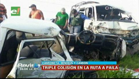 Triple colisión en la vía a Pailas dejó un muerto y tres heridos