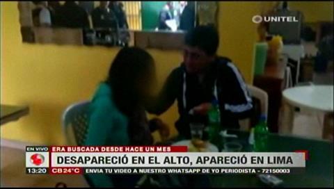 Policía peruana halla a niña boliviana reportada como desaparecida