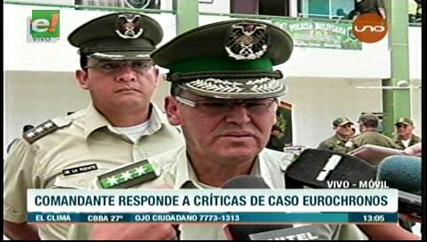 Comandante de la Policía no permitirá que se critique a la institución