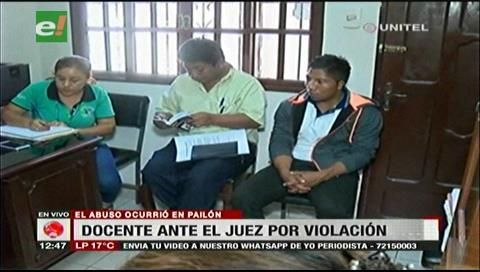 Pailón: Maestro es acusado de abusar a su estudiante