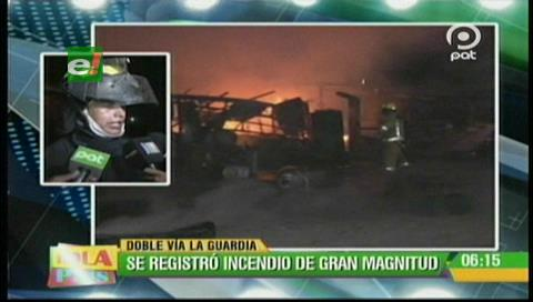 La Guardia: Cortocircuito genera un incendio en un taller