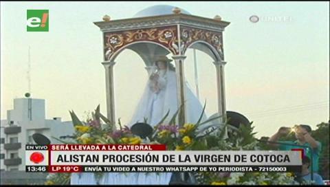 Imagen de la Mamita de Cotoca llega este lunes 27 a la Catedral de Santa Cruz