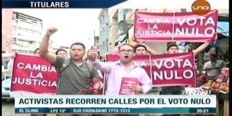 Video titulares de noticias de TV – Bolivia, noche del jueves 23 de noviembre de 2017