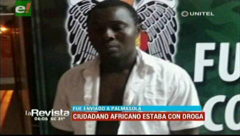 Envían a Palmasola a ciudadano africano por el delito de narcotráfico