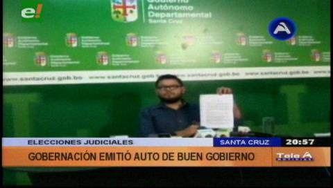 Santa Cruz: Desde las cero horas del viernes rige Auto de Buen Gobierno