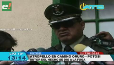 Vehículo atropelló a una persona en camino Potosí – Oruro