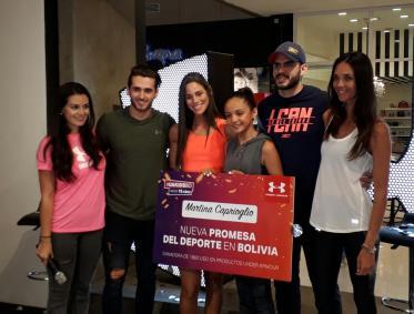 Mariana Aguilera, Rodrigo Vaca Díez, Fabiola Kalman, Martina Caprioglio, Hermes Aponte y Antoinette Van Dijk