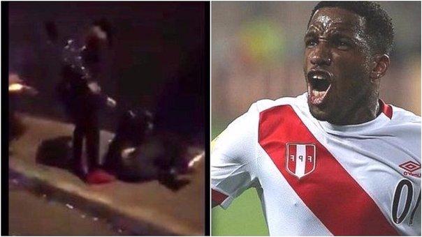 Jefferson Farfán golpeó a un hincha durante los festejos por la clasificación