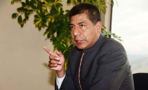 El canciller Fernando Huanacuni en una fotografía del archivo de La Razón.