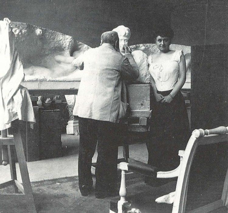 El artista en su atelier