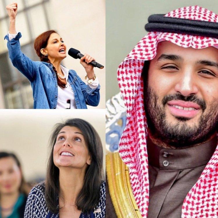 La activista por los derechos de la mujer y actriz Ashley Judd compartió espacio en el ranking con Nikki Haley, embajadora de los EEUU ante la ONU, y el Príncipe de la Corona Saudí Mohammed Bin Salman, responsable de abrir a Medio Oriente al resto del mundo