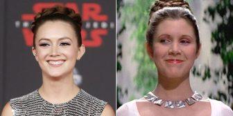 """El tierno tributo de Billie Lourd a su madre Carrie Fisher en el estreno de """"Star Wars: Episodio VIII. Los últimos Jedi"""""""