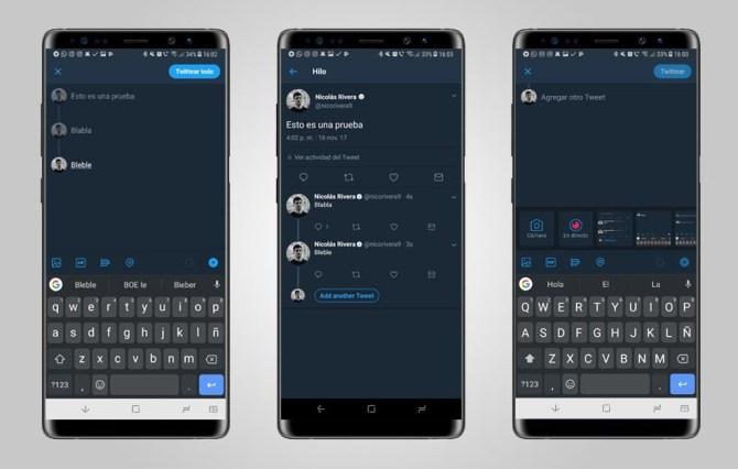Twitter introduce los hilos de 'tuits' en su plataforma