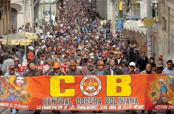 Resultado de imagen para Central Obrera Boliviana (COB)