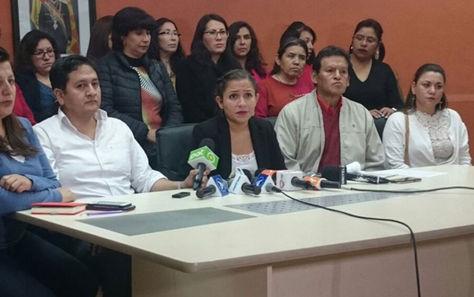 Conferencia de prensa de la ministra de Salud, Ariana Campero.