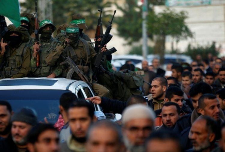Militantes de Hamas salieron a protestar en las calles de Hamas el pasado 7 de diciembre por la decisión de Trump de reconocer a Jerusalén como capital de Israel. (REUTERS/Mohammed Salem)