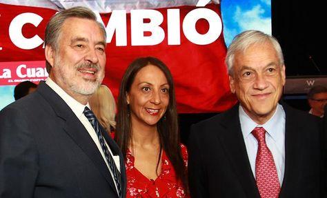 El candidato presidencial del oficialismo chileno, el periodista Alejandro Guillier (i) y el candidato de la derecha a la presidencia de Chile, el expresidente Sebastián Piñera (d) en un encuentro en Santiago. Foto: EFE