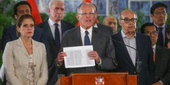 Perú: el presidente Pedro Pablo Kuczynski dijo que no renunciará en medio de presiones del Congreso por el caso Odebrecht