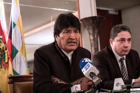 Morales en la conferencia de prensa que ofreció en Roma. Foto: EFE