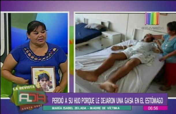 Madre dice que muerte de su hijo fue por negligencia médica